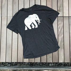 BANANA REPUBLIC Grey Elephant Crew Neck T Shirt